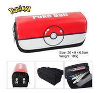 Wholesale Korea Wholesalers Phones - Hot Japan & Korea Anime Cartoon Cosplay Poke Ruler Pencil Pen Stationery Bag Purse Phone Case container For Kids Boy Girl Students Pouch