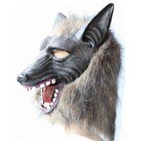 animal head mask - Party Masks The Devil Terror Halloween Mask Masquerade Mask Props Full Head Wolf Headgear Factory