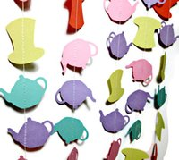 alice in wonderland party decorations - Mad Hatter Alice in Wonderland Tea Party Garland Tea Kettle and Mad Hatter Garland Photo Backdrop Photo Prop