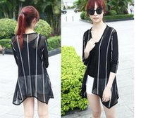 Wholesale Summer snow spins unlined upper garment of female in the summer of the new women s clothing in the long thin coat loose cardigan long