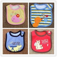 Wholesale Exempt postage children cotton bib baby bib baby bib children cartoon three layers of cotton waterproof saliva towel