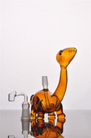 animal burner - oil Burner MINI Glass Bong Animal Bubber Water Pipe COLORFUL ART WITH GLASS BANGER Concentrate Rigs Dabber