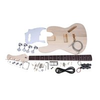 bass body styles - JAZZ Bass Style String Electric Bass Solid Basswood Body Maple Neck Rosewood Fingerboard DIY Kit Set Top Class Material