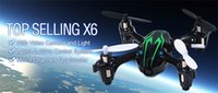 Wholesale MP Camera Drone X6 Quadcopter RC VS Hubsan X4 H107C CH G Remote Control Toys RC Helicopter with Camera and Light