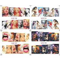 animations pack - Sexy Women Cartoon Water Decal Pattern Classical Animation Hero Water Transfer Nail Sticker sheet Nude Packing
