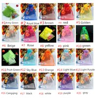 Wholesale Multi Color Organza Jewelry Bags Luxury Wedding Voile Gift Bag Drawstring Jewelry Packaging Christmas Gift Pouch DZ