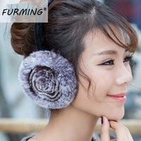 big pink headphones - New style Big Size Ladies Rex rabbit Fur Headphones Ear muff Really Fur ear Cover Earmuffs W