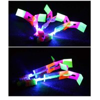 Wholesale Good quality LED Light Flash Flying Flash Rotating Flying Arrow Shoot Up Helicopter helicopter umbrella kids toy DHL free