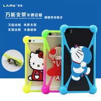 Wholesale 2016 Universal Silicone Case D Cartoon Characters kickstand Bumper Frame cases for iPhone S Plus Samsung S6 s7 Edge Xiaomi HTC Huawei