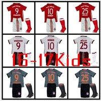 Wholesale rugby Kids Bayern Munich Jerseys Shirt Robben Alonso Muller Lewandowski Vidal Wholesalers Germany league
