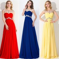 apple stock drops - Royal Blue Scoop A Line Evening Dresses Chiffon Crystals Sweep Train Prom Gowns Cheap In Stock Long Dresses