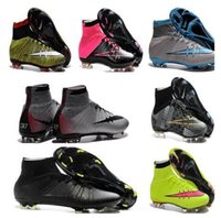 Wholesale 2016 new hypervenom soccer cleats mercurial superfly cr7 anniversary soccer shoes magista soccer boots men shoes outdoor football boots