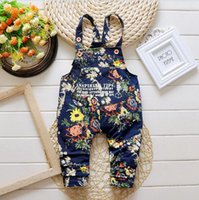 Wholesale 2015 Children s new spring and autumn Korean children denim overalls baby boy pants casual denim trousers