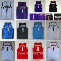 basketball jerseys toronto - Best Quality Toronto Tracy McGrady Huston All Stitched Embroidery Logos Orlando Basketball jersey