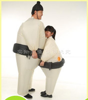 airblown costumes - New Adults Inflatable Airsuit Sumo Suits Wrestler Costume Fat Man Woman Airblown Sumo Run Color Run Marathon Cosplay Purim Halloween