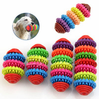 Wholesale Dog Toys Chews Durable Rubber Pet Dog Puppy Cat Dental Teething Healthy Teeth Gums Chew Toy