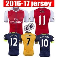 Wholesale 2016 Arsenal Away home RD Jerseys WILSHERE OZIL WALCOTT RAMSEY ALEXIS shirt