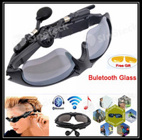 Wholesale 2016 Wireless Flip up Bluetooth Sunglasses Headset Stereo MP3 Music Glasses Earphone Headphone for Phone Hands free Tablet PC Free DHL