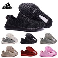 Cheap Adidas Original oxford tan yeezy 350 boost Running Shoes, Fashion Outdoor Men Kanye West milan Running Black Athletic boost with box