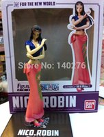 Wholesale One Piece Anime Cartoon The New World Nico Robin Collection Figure PVC Action Figure Toys Dolls brinquedos With Retail box