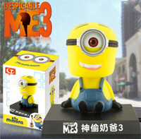 auto shake - God Steal Little Yellow Dads Eyes Shaking His Head Doll Auto Accessories Lovely Car Accessories Cartoon Characters