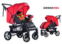 Wholesale Single seat lying down High view carbon steel material Baby Stroller with D oxford fabric