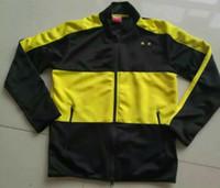 anti wear coating - Benwon Dortmundd full sleeve soccer jacket adult s outdoor leisure soccer coat thai quality men s winter football wear sports jacket