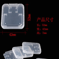 Wholesale Memory Card Clear Plastic Packing Boxes Retail Package Box for SD T Flash TF Card Packing Box Transparent Storage Case SD Card Case Box