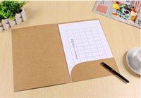 Wholesale-200 uds A4 carpeta de archivo de papel kraft blanco con el bolsillo y los colores negros para elegir Tamaño 22 * 31cm