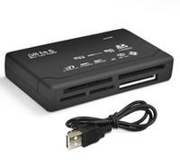 al por mayor tarjetas xd-Multi universal 500pcs en 1 todo en un lector de tarjetas de memoria USB SD externa SDHC Mini Micro M2 MMC XD CF envío libre