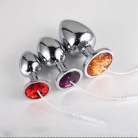Wholesale 2016 Electro Anal Plug Stainless Steel Butt Beads Sex Toys For Couples Adult Game Electric Sex Products Accessories