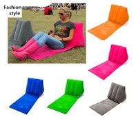 Wholesale fashion style beach mat and cushion chairs outdoor chairs Environmental protection PVC flocking triangle cushion for beach