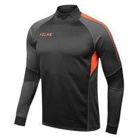 Wholesale Kelme K089 Men Long Sleeve Thumb Buckle Training Light Board Team Sportswear Football Jersey Iron Gray