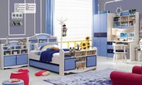 Wholesale Brand New Youth kids Teenage Children Soild Oak Wood Bunk Bed Bedroom Furniture Set