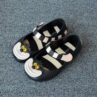 beach shoes baby - 15 cm MINI MELISSA style Alice Wonderland Cheshire cat beach sandals for girls plastic shoes baby jelly kids summer footwear
