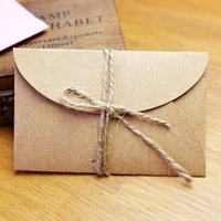 Wholesale Handmade mini kraft paper envelope x9cm