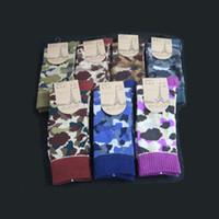 bape men - Seven Colors Japanese Fashion Skateboard Sport Socks BAPE Vintage Men Socks Long Cotton Knitted Casual Socks Men Socks047