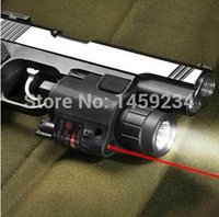 airsoft gun laser sight - Pistol Red Laser Combo Hunting Sight Scope nm Tactical LED Flashlight Switch Button For Rifle Pistol Gun Airsoft Shot JGSD H210790