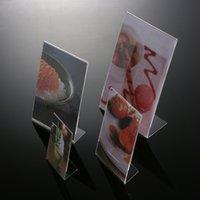 Wholesale High Quality Exquisite Plexiglass Photo Frames Transparent Rectangle Acrylic Photo Frame quot quot quot quot quot A4 Photos Display Desk Holder