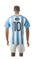 Wholesale Customize new Argentina socce Jerseys home Away Jerseys Men kids Messi Mix order
