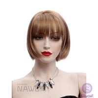 Pelucas de mirada naturales de las mujeres de las nuevas pelucas marrones cortas baratas baratas del corte del pelo de Bobo pelucas de mirada naturales de las mujeres cosplay Envío libre