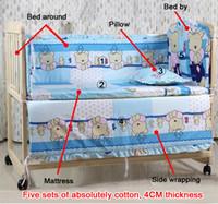 Wholesale 2016 hot sale Cartoon Mattress for Baby set Baby bedding sets Children Crib Bedding Set cotton