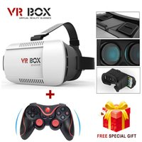 Wholesale 100 original Google cardboard VR BOX Version VR Virtual Reality Glasses Bluetooth Wireless Mouse Remote Control Gamepad