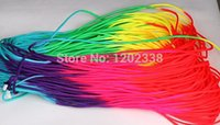 Wholesale 100meters Rainbow paracord New Paracord Parachute Cord Lanyard Rope Strand Climbing Camping