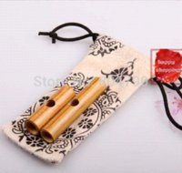 Wholesale Chinese Mouth Flute Handmade Musical Instrument Bamboo Mouth Flute dizi with Pouch Nice Gift Can Imitate the cries of birds