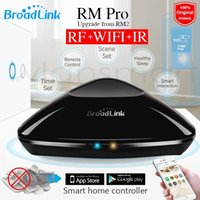 Wholesale New Broadlink RM Pro RM2 Universal Intelligent controller Smart home Automation WIFI IR RF Switch remote control VIA IOS android