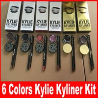 Wholesale Kylie Cosmetics By Kylie Jenner Kyliner Black Brown bronze chameleon with Eyeliner Gel pot Brush Eyebrow Enhancers colors