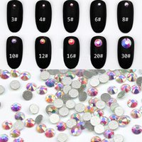 Wholesale rystal swarovski rhinestones Super Shiny SS4 mm AB Glitter Non Hotfix Crystal Color D Nail Art Decorations Flatback Rhi
