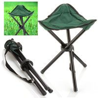 Wholesale Outdoor Hiking Fishing Lawn Portable Pocket Folding Chair With Legs Stool Outdoor Folding Tripod Seat