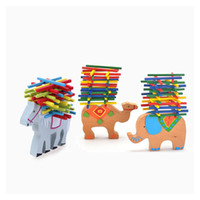 baby camels - Baby Toys Educational Elephant Camel Balancing Blocks Wooden Toys Beech Wood Balance Game Montessori Blocks Gift For Child